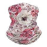 Pañuelo de cara bandana rosa Centifolia Blossom Headwear Gaiter Flor Pasamontañas