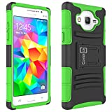 Galaxy On5 Case, CoverON [Explorer Series] Tough Hybrid Armor Belt Clip Phone Cover for Samsung Galaxy On5 Holster Case - Neon Green & Black