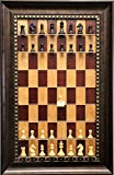 Derby Chess Pieces Included on Red Cherry Straight Up Chess Vertical Chess Board
