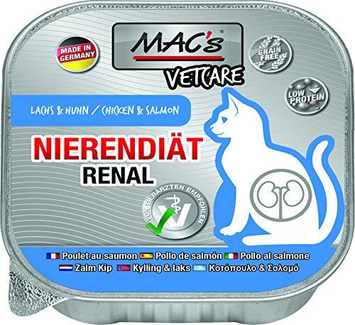 MACs Cat Vetcare Nierendiät Lachs & Huhn 100g für Katzen 16er Pack (16 x 100g)