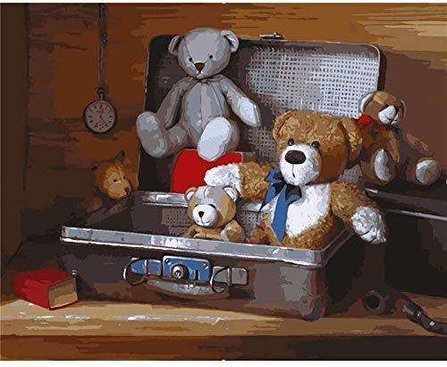 DUANGONGZI Pintar por Numeros para DIY de Pintura Llevar en la Caja Los Mejores Regalos para Amantes, niños y Madres.-40X50CM-With Frame