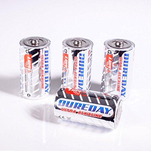 Lights4fun Lot de 20 Piles Ultra Alcalines Dureday Type C