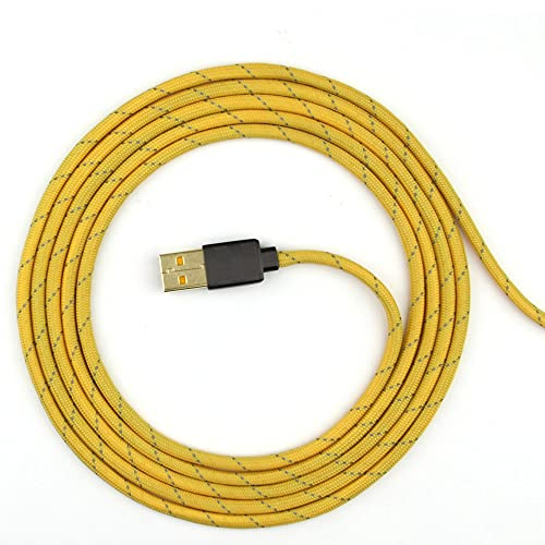 Paracord Mouse Cable for Gaming Mice - for Xtrfy M4 RGB - (Yellow RP16)