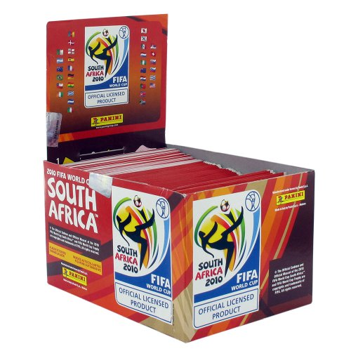 Panini PN25331 - Fußball FIFA WM 2010 Sticker Display - 100 Booster Inhalt (5 Sticker pro Booster)