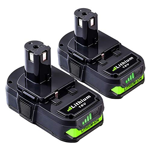 2 Packs P102 3000mAh Replacement Battery Compatible with Ryobi 18V Lithium-ion Battery P102 P103 P104 P105 P107 P108 for 18-Volt ONE+ Plus Power Tool