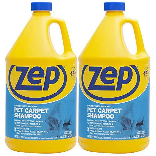 Zep Premium Pet Carpet Shampoo 128 ounce (Pack of 2) concentrated pro formula eliminates tough pet stains and odors