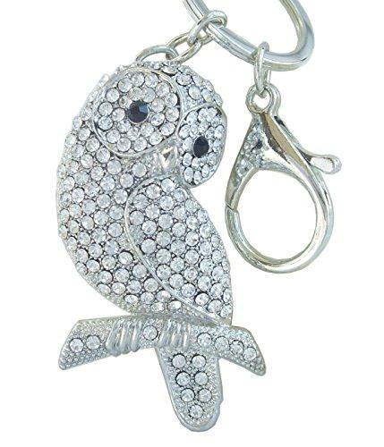 Llavero de Búho de la suerte - Cristal - Amuleto para atraer a la buena suerte