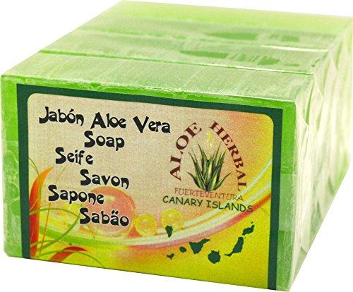 Aloe Herbal jabón de aloe vera 125gr pack 4 uds