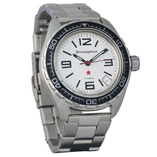 Artículo nuevo. Vostok Komandirskie 200 WR - Reloj de pulsera mecánico automático para hombre # 020716