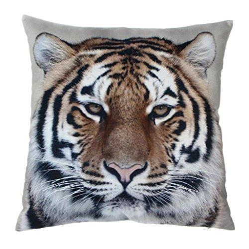Tiger Schöne Sofakissen Zierkissen Kopfkissen Kissenbezug Kissenhüllen Baumwolle+Leinen 45*45cm