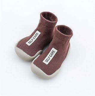 LiuQ, Bebé Calcetines del bebé de goma Aprender piso calcetines antideslizantes calcetines suaves del bebé de caminar Calcetines de primavera y verano niños del otoño
