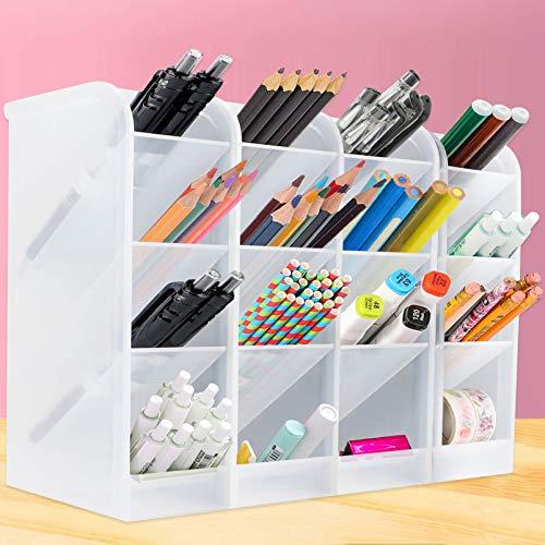 4 Stück Stiftehalter Organizer,Große Schreibtisch stifthalter,Stifthalter Aufbewahrungsbox,Schreibwaren stifthalter box,pencil organizer,Multifunktionaler Stifthalter,Kapazität Stiftehalter(B)