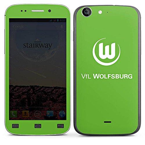 DeinDesign Wiko Stairway Folie Skin Sticker aus Vinyl-Folie Aufkleber VFL Wolfsburg Fanartikel Fußball