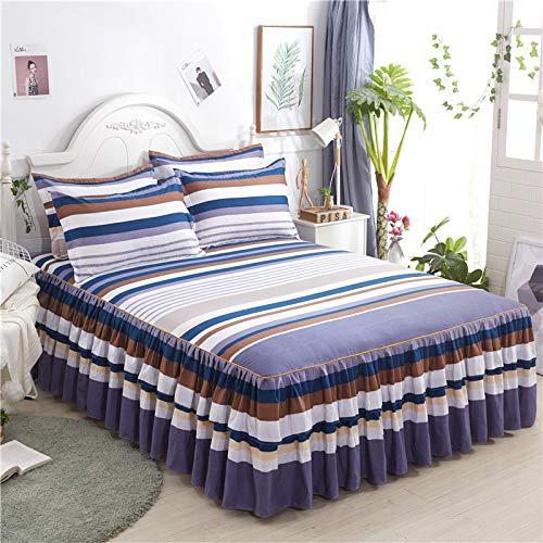 Hllhpc Bed cover Amerikaanse katoen enkel stuk dubbel bed rok bed kussensloop Koreaanse prinses bed cover bed