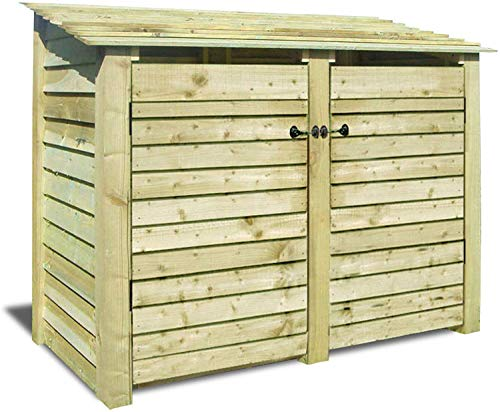 Cottesmore 4ft High - Log Store/Garden Storage With Doors - Heavy Duty With Pressure Treated Wood