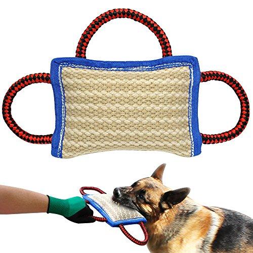 PET ARTIST Beißkissen mit Handschlaufen Hundetraining Hundeausbildung Hundesport Schutzdienst Junghund Jute