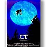 Box Prints E.T. Film Vintage Retro-Stil Poster Kunstdruck