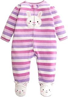 749db07751625 Bébé Barboteuses Polaire Combinaison Pyjamas Zipper Grenouillère Manches  Longues Body 3-6 Mois