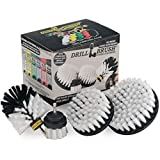 Drillbrush Automotive Soft White Drill Brush - Leather Cleaner - Car Wash Kit -...