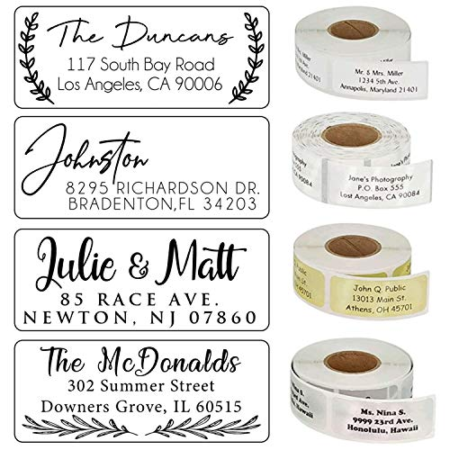 Choose Design! - Address Labels Clear White Gold Silver Personalized Return Address Labels Customized Mail Labels Wedding Labels Custom Address Stickers