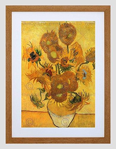 Wee Blauwe Coo Van Gogh Stilleven Vaas Met Vijftien Zonnebloemen 1888 Art Omlijst Muur Art Print