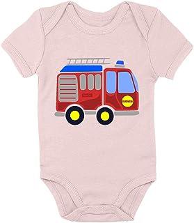 HARIZ Body de manga corta para bebé, diseño de bomberos, coche de policía, incluye tarjeta de regalo