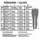 Formbelt® Damen Sport-Leggings schwarz weiß mit Tasche lang - Sport-Hose Leggins Hüfttasche für Smartphone iPhone Handy Schlüssel (Cream L) - 5