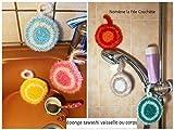 Eponge tawashi durable, accessoire pour la vaisselle ou le corps, lavable en machine, fait main au crochet, coloris au choix,
