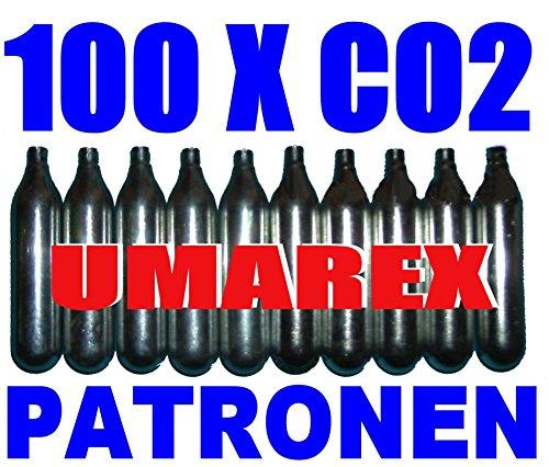 Set di 100 Capsule di CO2 - Ricarica Gas per Proiettili (12g) per Armi Softair, Paintball, Pistole e Fucili ad Aria Compressa