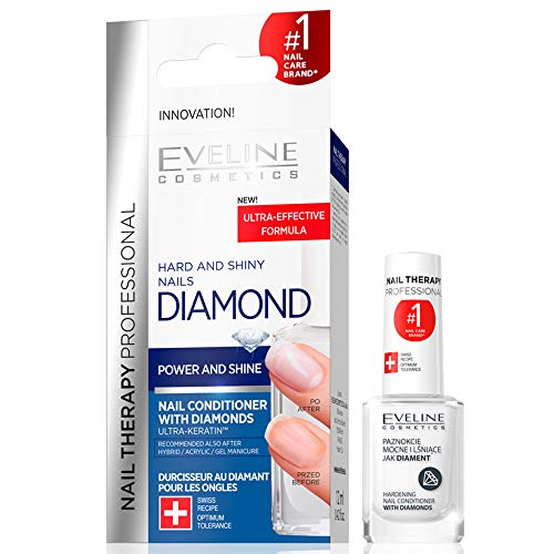Eveline Cosmetics Professionelle Nägel-Therapie DIAMANT | 12 ML | Härtender Conditioner mit Diamanten | Titanformel | Extreme Verstärkung