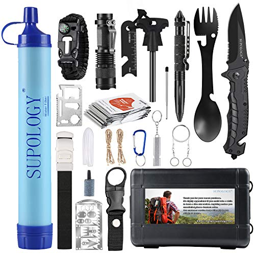 SUPOLOGY Emergency Survival Gear Kit