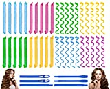 40PCS Hair Curlers Heatless Wave and Spiral...