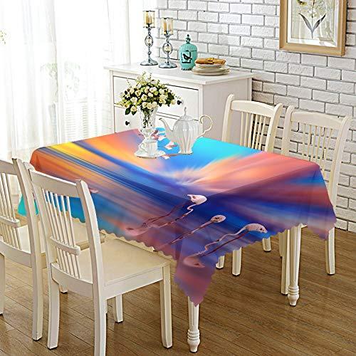 DREAMING-Verdickte Bedruckte Stoff Tischdecke Home Esstisch Stoff Tv-Schrank Couchtisch Stoff Runde Tisch Tischset 140cm * 180cm