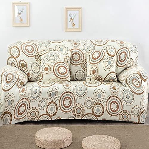 PPOS Funda de sofá elástica Universal, sofá seccional, sillón, Funda para Muebles, pájaros Florales, Hojas A14, sofá de Dos plazas 145-185cm-1pc