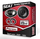 Seat Leon Pioneer altavoces para puerta delantera de coche altavoces + aros adaptadores, 240W