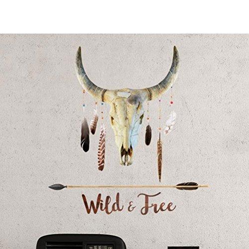 Stickers Muraux Style Indien : Crâne de Buffle