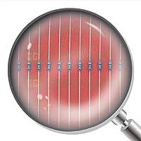 300Pcs 1/8W 0.125W 1% Metal Film Resistor 100 Ohm