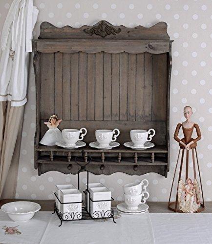 Vintage Küchenregal Tellerboard Tellerregal Shabby Chic Wandregal Antikstil AWC007 Palazzo Exklusiv
