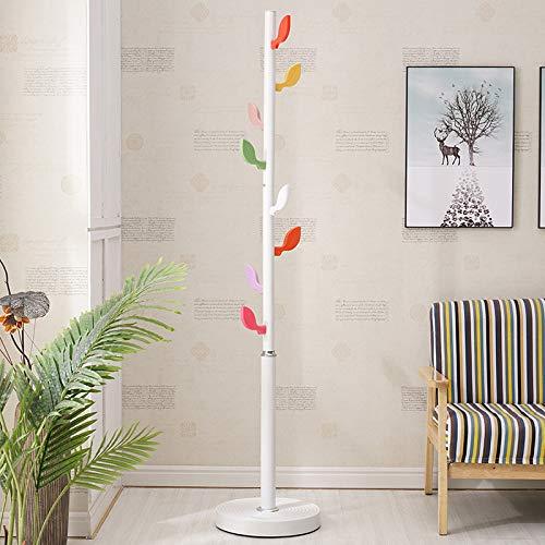 Coat Rack,Floor Suite Cartoon Metalen Hangers,Kleding Racks Eenvoudige Volwassen,Children's Hangers Verscheidenheid van Optionele Sub Creatieve Planken 173x50x50cm ?White
