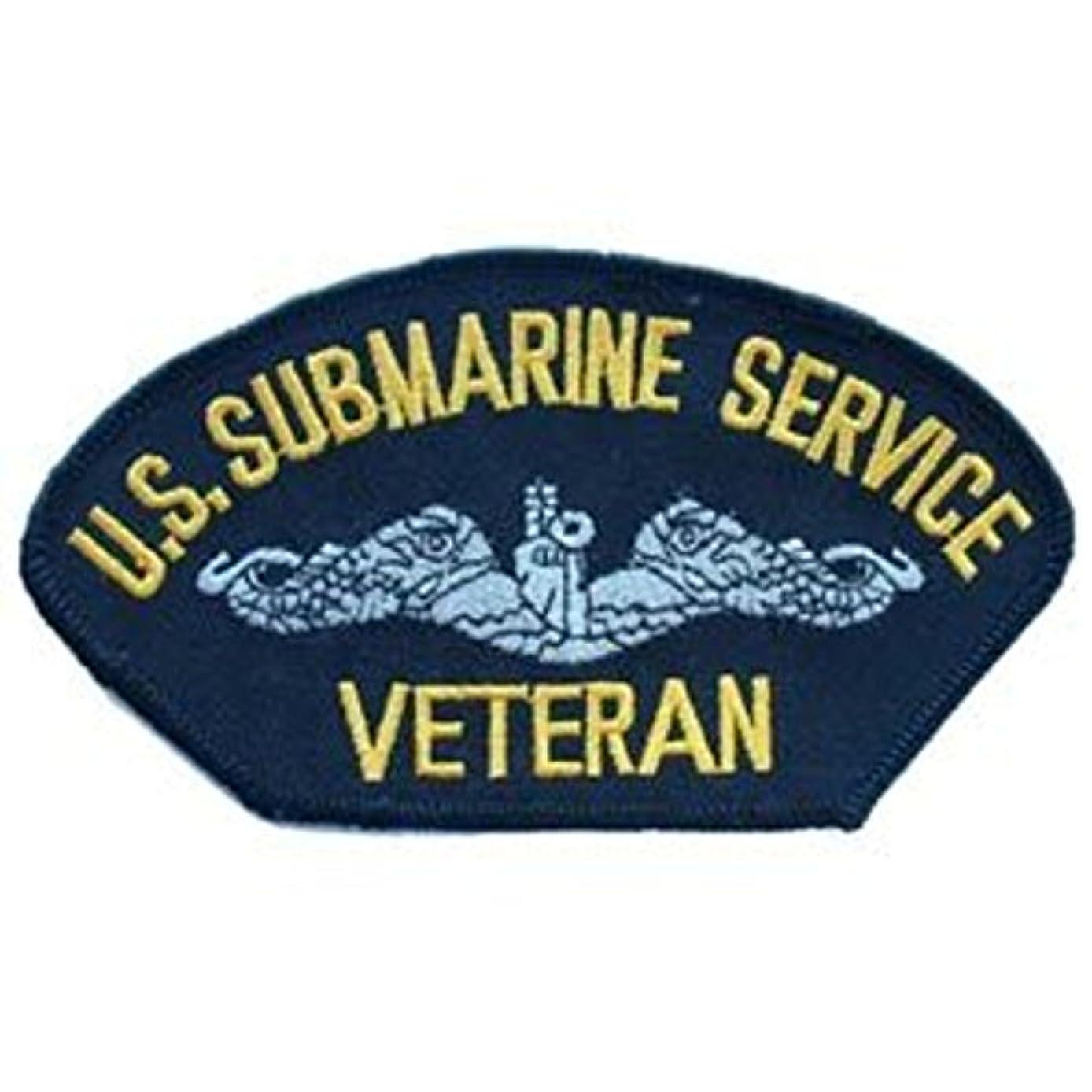 EagleEmblems PM1428 Patch-Usn,Hat,Submarine Svc.Veteran (3x5.25'')
