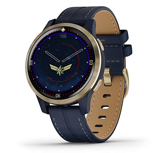 Garmin Legacy Hero Series, Marvel Captain Marvel Inspired Premium Smartwatch, Includes a Captain Marvel Inspired App Experience, Gold, 40mm (010-02172-41)