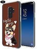 S9 Case Corgi,Gifun [Anti-Slide] and [Drop Protection] Soft TPU Protective Case Cover for Samsung Galaxy S9 (2018) - Hello,Corgi