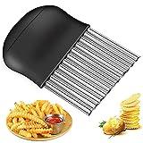 BESSIKON® Coltello per patatine fritte,affettaverdure in acciaio inossidabile,cutter ondu...