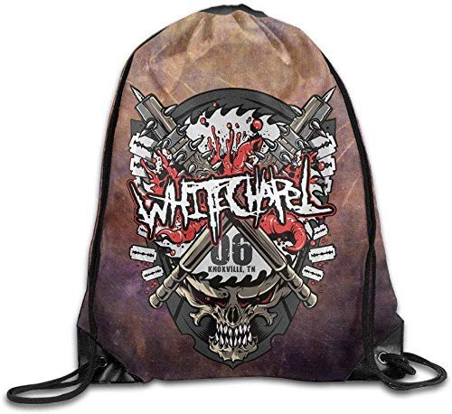 NA Rock Band Whitechapel Mark of The Blade Port Bag Drawstring Backpack