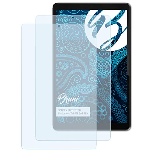 Bruni Schutzfolie kompatibel mit Lenovo Tab M8 2nd GEN Folie, glasklare Displayschutzfolie (2X)