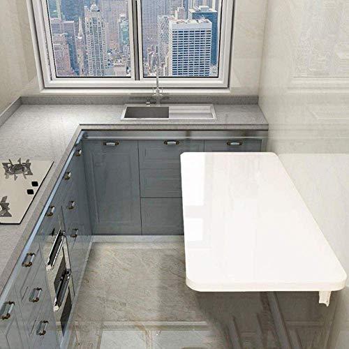 AOIWE Mesa plegable de pared para cocina/lavandería, banco de trabajo plegable, estantería para niños, color blanco (tamaño: 50 x 30 cm)