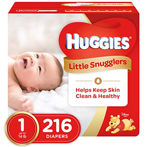 Huggies Little Snugglers Diapers - Size 1-216 ct