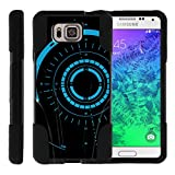 TurtleArmor   Compatible with Samsung Galaxy Alpha Case   G850 [Gel Max] Dual Layer Hybrid Shock Silicone Hard Shell Case Kickstand - Blue Tron Target