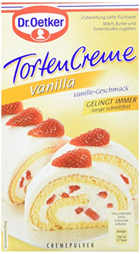Dr. Oetker Vanilla Tortencreme, 5er Pack (5 x 140 g)