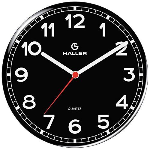 Relógio de Parede Disco New York 5395/02 22cm Preto Haller